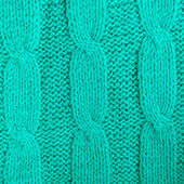Green cotton knitted sweater detail — Stock Photo