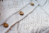 White cotton knitted sweater detail — Stock Photo