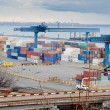 Odessa international sea port with containers — Stock Photo #17411247