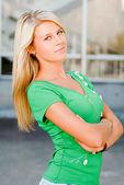 Young beautiful blonde woman portrait — Stock Photo