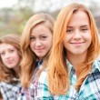 Three happy teenage friends — Stock Photo #18248373