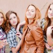 Four happy teenage friends — Stock Photo #18727887