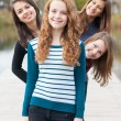 Stock Photo: Four happy teenage friends