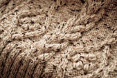 Detail of woven handicraft knit sweater — Stock Photo