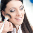 Young woman at make up artist — Stock Photo