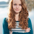 Teenage girl autumn day portrait — Stock Photo #21362551