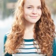 Teenage girl autumn day portrait — Stock Photo