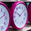Royalty-Free Stock Photo: Wall clocks on the shelf