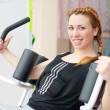 Royalty-Free Stock Photo: Cute young happy smiling woman going fitness exercesing