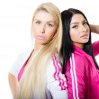 Two women doing fitness — Stock Photo