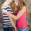 Young Girls Hug — Stock Photo #27445191
