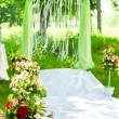 Wedding ceremony arch decoration — Stock Photo