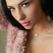 Beautiful young fashion sexy sensual woman closeup portrait — Foto de Stock