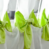 Wedding party chairs decoration — Stock Photo