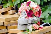 Wedding bouquet closeup — Stock Photo