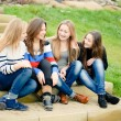 Stock Photo: Teenage friends