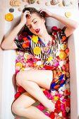 Female in bath — Stock Photo