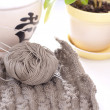 Foto Stock: Knitting details