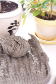 Knitting details — Stock Photo