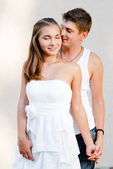 Young couple loving each other — Stock Photo