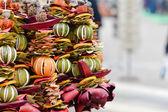 Dried citrus garland decoration — Stock Photo