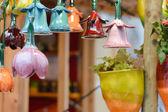 美しいカラフルなセラミック鐘行 — ストック写真