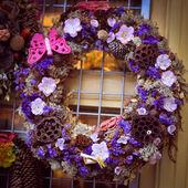 Christmas pine tree garland decoration — ストック写真