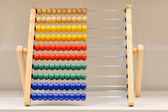 Abacus or accounts fig colorful — Stock Photo