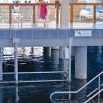 Heviz thermal lake and swimming pool spa resort — Stock Photo