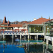Stock Photo: Heviz thermal lake and swimming pool spa resort in Hungary