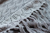 Detail of woven handicraft knit shawl — Stock Photo