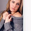 Woman looking at camera in knitwear — Stock Photo #42246299