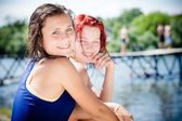 Girls sharing joyful time — Stock Photo
