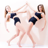 Young athletic figure women — Stock Photo