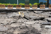 Cracked road after the disaster — Stock Photo