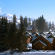 Stock Photo: Mountain ski resort with snow in winter, Bukovel, Carpathian, Ukraine
