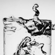Stock Photo: Splash in glass of water