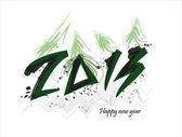 Nový rok 2013 karta s vánoční stromeček — Stock vektor