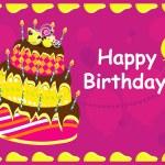 Happy birthday card. vector illustration — Stock Vector