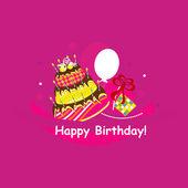 Happy birthday. vector illustration — Stock Vector