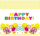 Happy birthday. vector illustration — Stock Vector