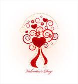 Tarjeta del día de San Valentín — Vector de stock