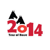 New year of horse 2014 — Wektor stockowy