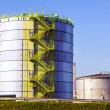 Silo in Industry Park in beautiful landscape near Frankfurt — Stock Photo #12530659