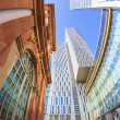 Skyline of highrise buildings in Frankfurt — Stock Photo