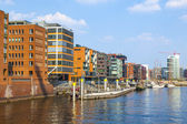 Famous Hafencity nord in the Speicherstadt in Hamburg — Stock Photo