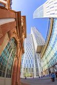 Skyline of highrise buildings in Frankfurt — Stock Photo