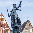 Lady justice in Frankfurt — Stock Photo