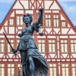 Lady justice in Frankfurt — Stock Photo #12686229