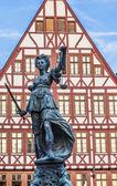 Pani spravedlnost ve Frankfurtu — Stock fotografie